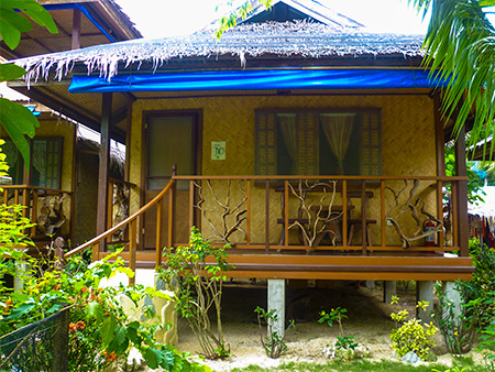 Photos of the cottages at greenviews resort at el nido for Native bungalow house designs